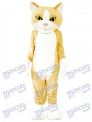 Chat heureux mascotte adulte costume Animal Dessin animé