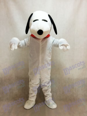 Snoopy Dog avec Costume de mascotte col rouge