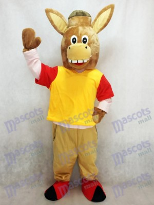 Brun Martin l'âne mascotte Costume Animal