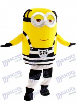 Souri minion en prison dessin animé de mascotte méprisable moi