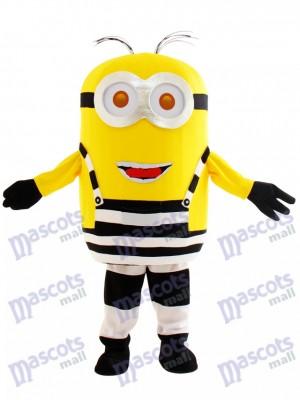 Deux yeux Joyeux Minion en prison Dessin animé de mascotte méprisable Me