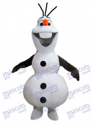 Congelé Olaf Bonhomme de neige Mascotte Costume Dessin animé Personnage Halloween Noël