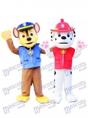 Paw Patrol Marshall et Chase Patte patrouille Costume de mascotte Anime de dessin animé