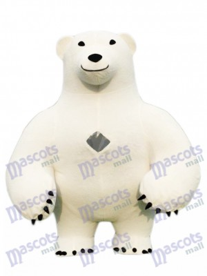 Mignonne Polaire Ours Adulte Mascotte Costume Animal