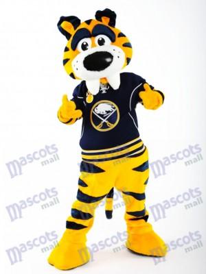 Sabre à dents de sabre Tigre de buffle Sabre Costume de mascotte Animal