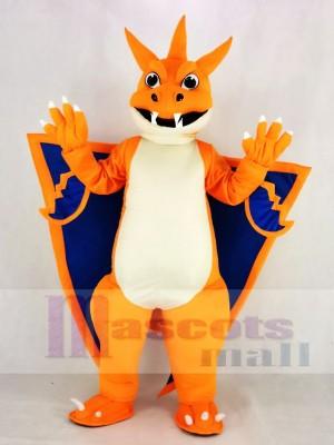 Mega Charizard X Poche Monstre Pokemon Pokémon Dragon de feu Mascotte Costume Dessin animé