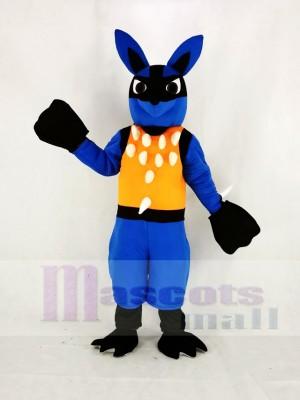 Bleu Lucario avec Orange Gilet Pokémon Pokemon Mascotte Costume Dessin animé