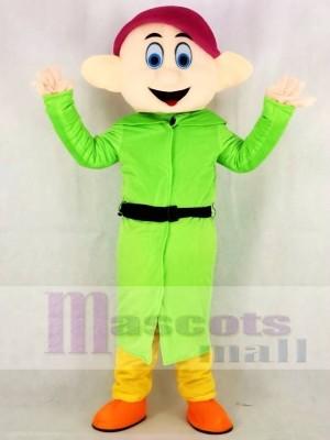 Mignonne vert Nains Dopé Mascotte Costume Dessin animé