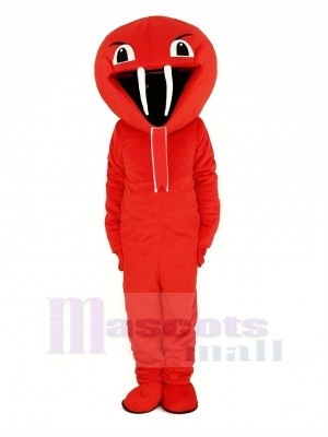 rouge Cobra Serpent Mascotte Costume Animal