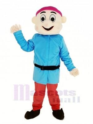 Nains avec Bleu Manteau Mascotte Costume