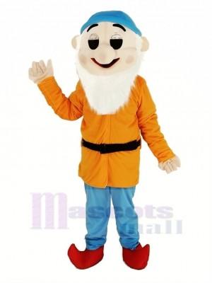 Nains avec Orange Manteau Mascotte Costume