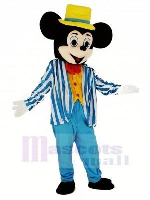 Mickey Souris dans Bleu Mascotte Costume Dessin animé