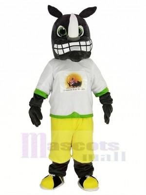 gris Rhinocéros avec les sweat-shirt Mascotte Costume Animal