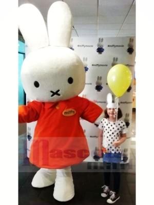 Orange Chemise Miffy lapin Mascotte Les costumes Dessin animé
