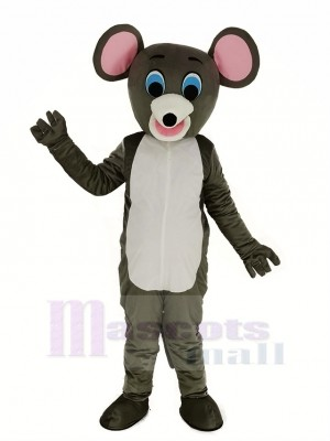 Peu gris Souris Animal Mascotte Costume Animal