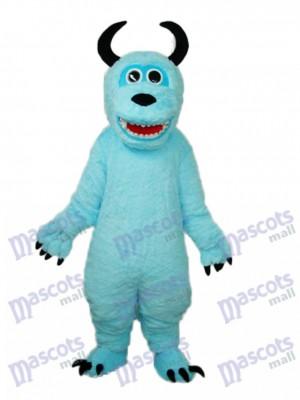 Coral Velvet Monsters Inc Blue Sulley Mascot Adult Costume