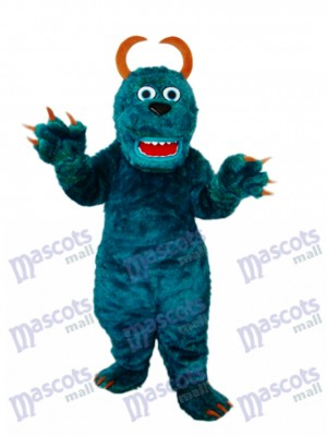 Foncé vert Sulley Monsters Inc Mascotte Adulte Costume Dessin animé Anime