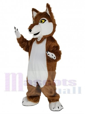 Loup maskottchen kostüm