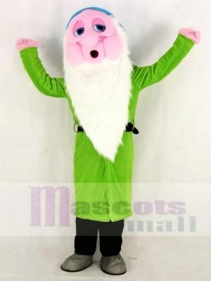 Marrant Yawny vert Nains Mascotte Costume Dessin animé