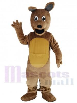 marron Kangourou avec Longue Oreilles Mascotte Costume