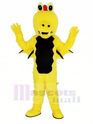 Jaune Épine Dragon Mascotte Adulte Costume