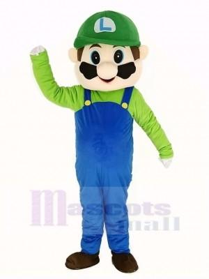 Super vert Mario Mascotte Costume Dessin animé