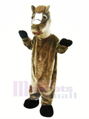 marron Cheval Mascotte Les costumes Adulte