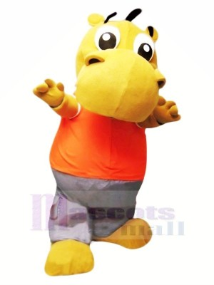 Peu Mignonne Hippopotame Mascotte Les costumes Dessin animé