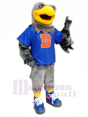 faucon avec Bleu T-shirt Mascot Costumes Animal