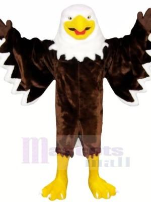 Souriant marron Aigle Costumes De Mascotte Animal