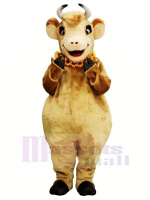 Femelle marron Vache Mascotte Les costumes