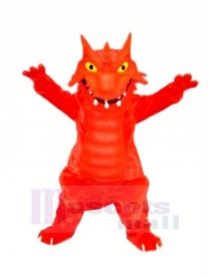 rouge Flamber Dragon Mascotte Les costumes Dessin animé