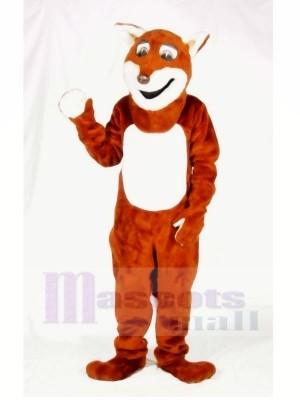 Heureux Renard Mascotte Les costumes Adulte