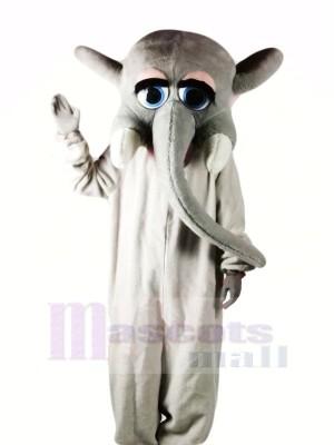 Gris l'éléphant avec Gros Les yeux Mascotte Les costumes Dessin animé