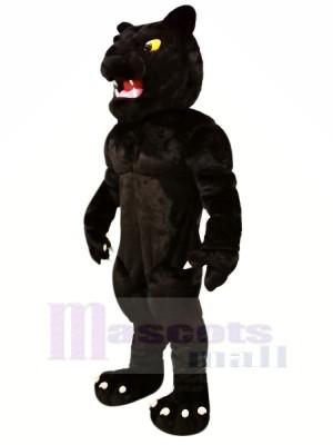 Puissance Noir Panthère Mascotte Costume Dessin animé