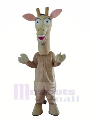 Mignonne Girafe Mascotte Les costumes Dessin animé