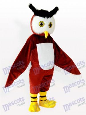 Costume de mascotte adulte brun hibou animal