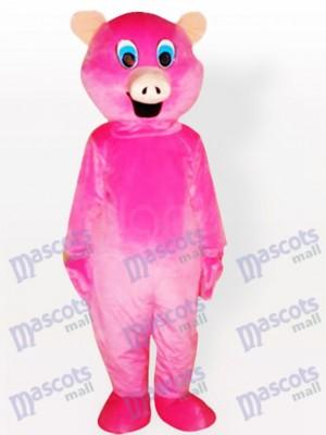 Costume de mascotte d'animal adulte de cochon rose
