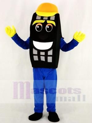 Bleu Auto Pneu Taxi Pneu Mascotte Costume Dessin animé