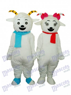 Agréable Chèvre & Beauté Mascotte de Mouton Adulte Costume Animal