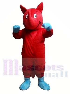 Rhinocéros rouge Costumes De Mascotte