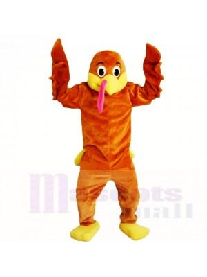 Dessin animé de beaux costumes de mascotte de dinde