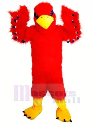 Marrant rouge faucon Mascotte Les costumes Dessin animé