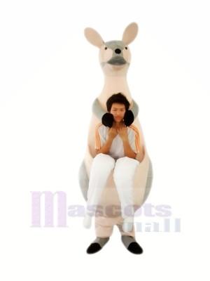 Gris Kangourou Mère Mascotte Les costumes Adulte