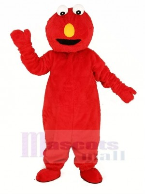 rouge Elmo Monstre Mascotte Costume Dessin animé