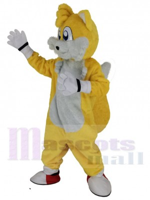 Miles Prower Tails Renard costume de mascotte
