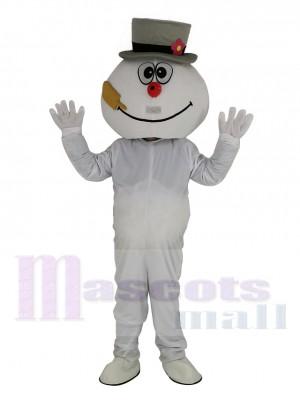 Haute Qualité Glacial Bonhomme de neige Mascotte Costume Dessin animé