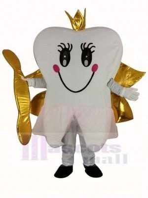 d'or Dent Fée Les dents Mascotte Costume
