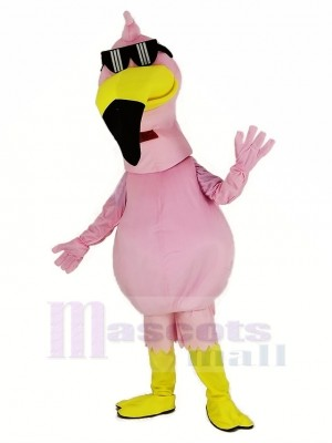 Rose Flamant Oiseau Mascotte Costume Animal