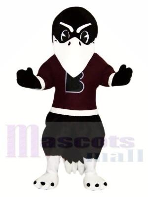 Noir Corbeau avec blanc les sourcils Mascotte Les costumes Animal